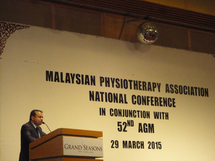 APRIL 2015 Scientific Talk at Annual Conference of Malaysian Physiotherapy Association, Kuala lumpur  MALAYSIA